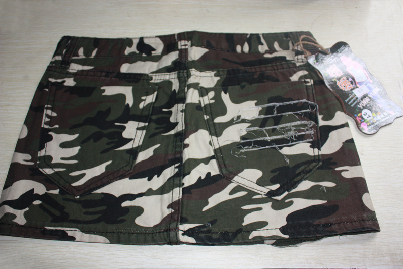 Army surplus white camo dress.