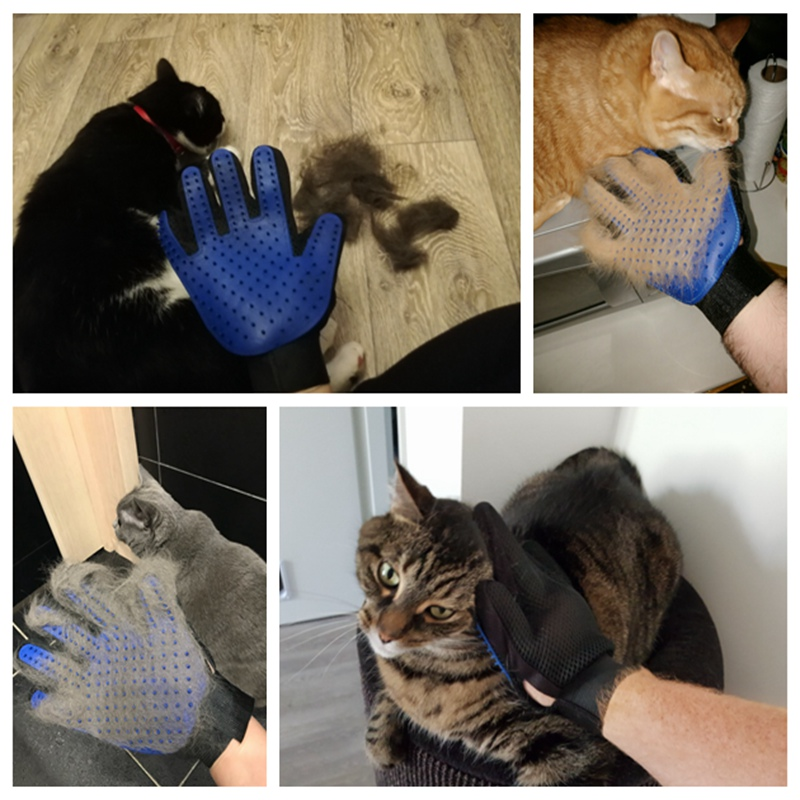 Pet Grooming Glove for Cats Brush Comb Cat Hackle Pet Deshedding Brush Glove for Animal Dog Pet Hair Gloves for Cat Dog Grooming (2)