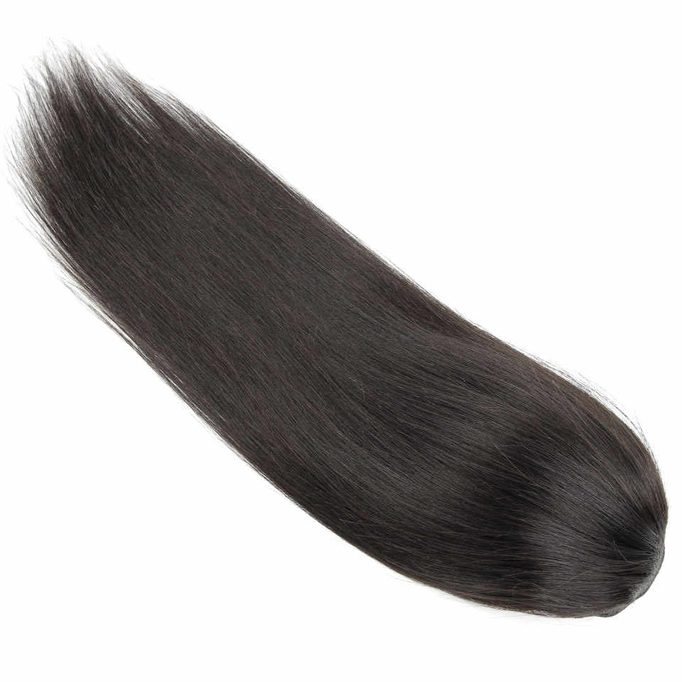 Yvonne шнурок конский хвост человеческие волосы на заколках для наращивания бразильские девственные прямые волосы натуральный цвет 1 шт.