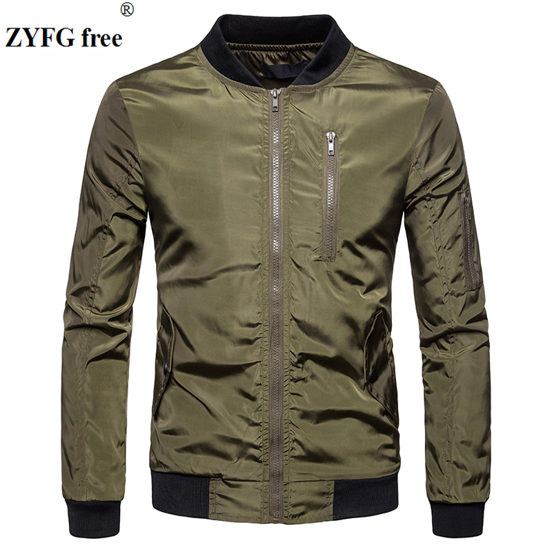 ZYFG free Jacket Coat Men Fashion Spring Men's Clothing Zipper Sportswear Long Sleeve Coat Outerwear Coats Autumn Jacket Male