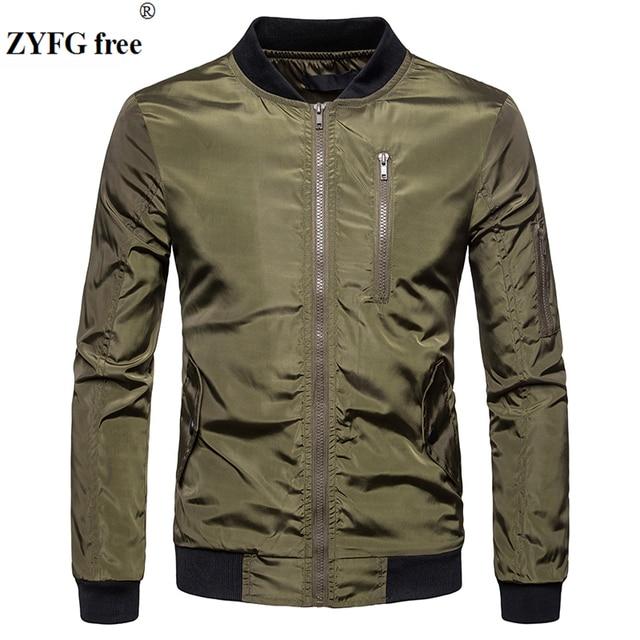 ZYFG free Jacket Coat Men Fashion Spring Men's Clothing Zipper Sportswear Long Sleeve Coat Outerwear Coats Autumn Jacket Male