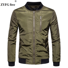 ZYFG free Jacket Coat Men Fashion Spring Mens Clothing Zipper Sportswear Long Sleeve Outerwear Coats Autumn Male