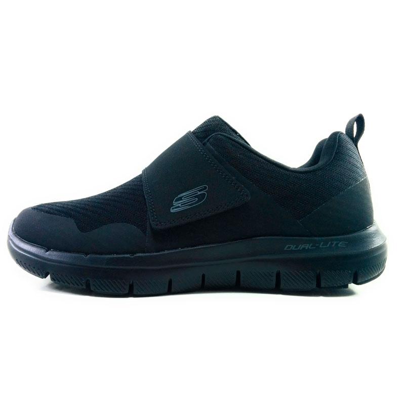 2.0 gurn skechers flex-vantaggio di tendenza ESTATE Tessile 18 urbano uomo in esecuzione sneaker velcro nero