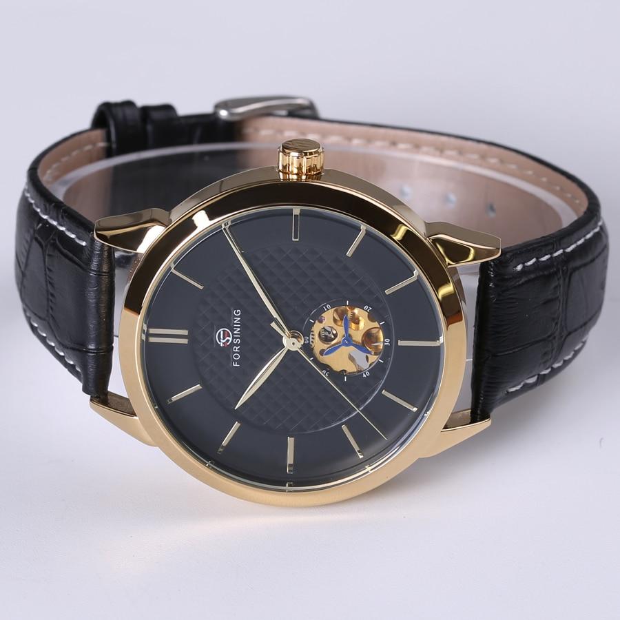 Forsining Classic Business сериясы Black Golden Case - Ерлердің сағаттары - фото 4