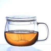 300ml High Quality Water Glasses Coffee Cups Set Tea Mug With Cover Handmade Creative Beer Drink