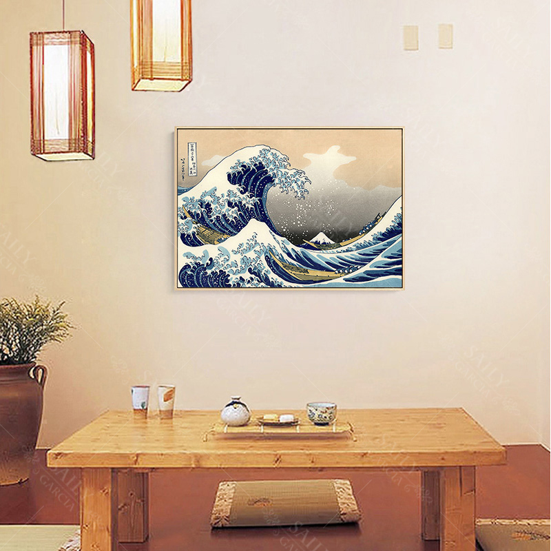 HTB1uG77d.uF3KVjSZK9q6zVtXXaN Hd Print Canvas Paintings Japanese Style Traditional Posters Wave Kanagawa Vintage Wall Art Picture For Living Room Home Decor