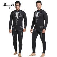 Full Body Tuxedo Style Wetsuit Mens 3mm Premium Neoprene Surf Surfing Scuba Diving Swimming Snorkeling Suits Jumpsuit