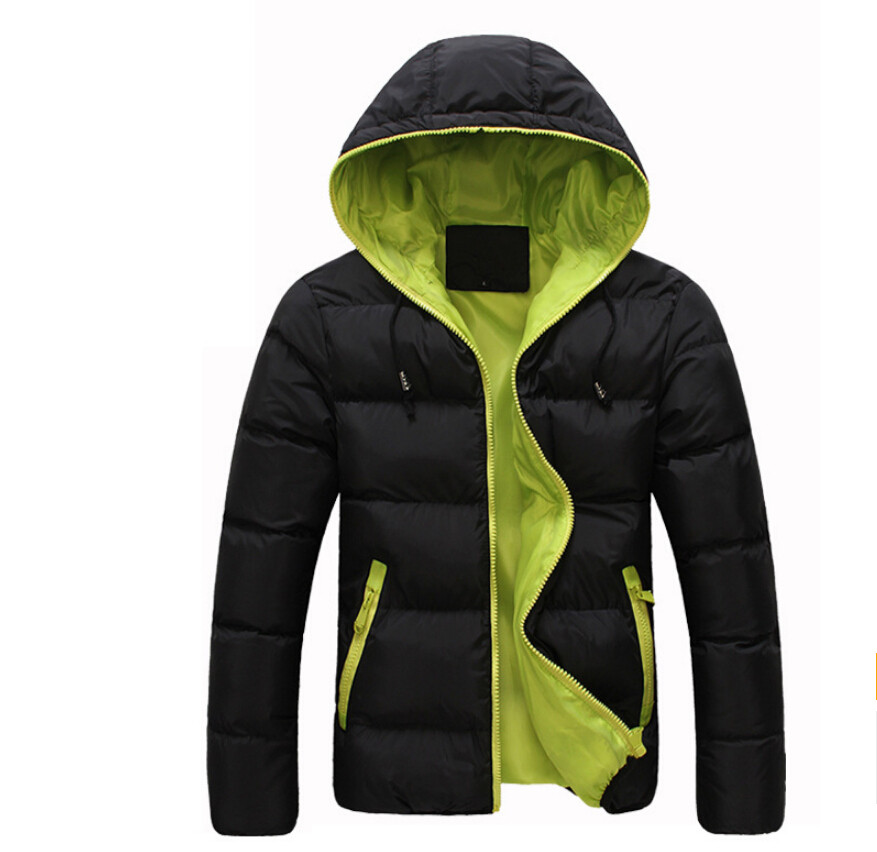 2015 New Mens Winter Jacket Men's Hooded Wadded Coats Outerwear Male Slim Casual Cotton Outdoors Outwear Down Jackets Hot Sale