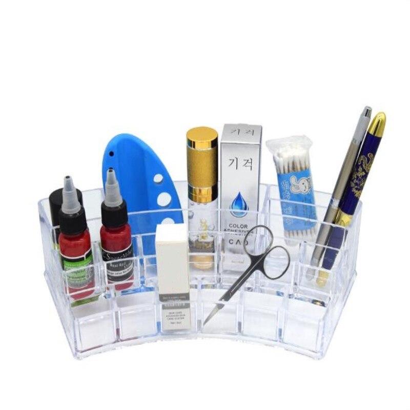 1 Set Acrylic Transparent Plastic Cosmetic Storage Box Tatto