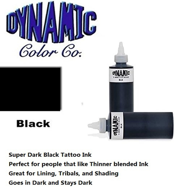 Black Color Dynamic Pigment Kit Permanent Tattoo Ink Dynamic Tattoo Ink 250ML/ 12oz/330g/Bottle Black Color Tattoo Pigment Kit