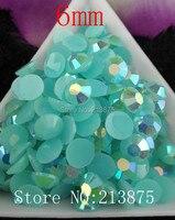 Free Shipping 1000pcs Dark Acid Magic Color AB Jelly 6mm Resin Rhinestones Nail Art Mobile Phone