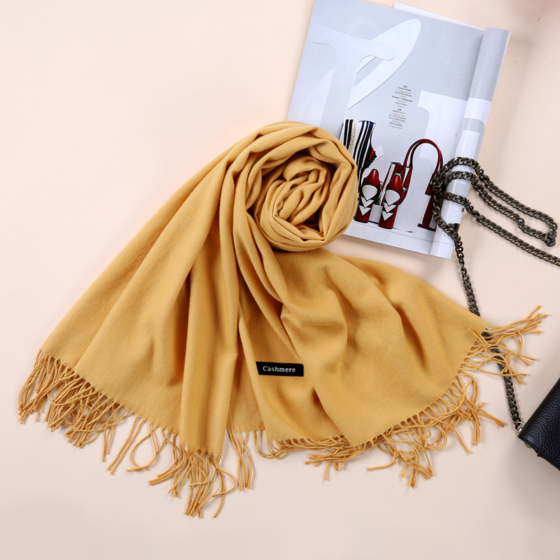 2017 Shawls and Scarves Cashmere Cape Plain Winter Warm Scarf Luxury - Apparel Accessories - Photo 5