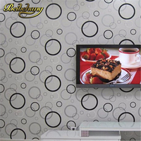 beibehang High Quality Modern black and white circle vinyl wallpaper roll for walls living room bedroom,dining room TV backdrop