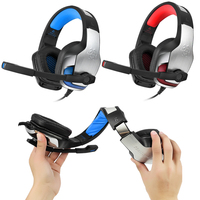 Hunterspider V4 Best PC Gamer Stereo Gaming Headphones With Microphone Dazzle Lights Glow Game Music Headset