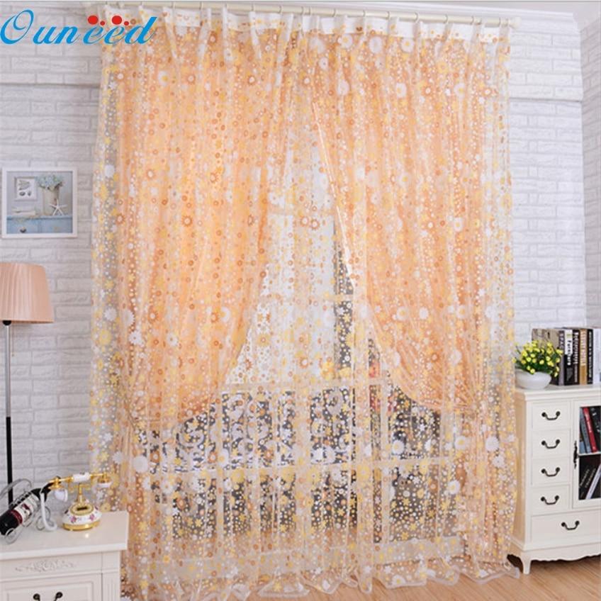 Attractive Orange Print Curtains