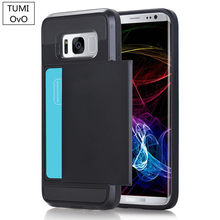 56d51468f Luxury 2 in 1 Hybrid TPU + Plastic Card Pocket Wallet Shockproof Armor Case  Cover For Samsung Galaxy S3 S4 S5 S6 S7 Edge S8 Plus