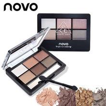 Профессиональный макияж бренд земли Цвет 6 цветов Палитра теней Блеск глаз Палитра Maquiagem матовая Шелковый пигмент теней
