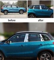 Stainless steel Exterior Window Sill Lid Trims for suzuki vitara 2015 2016 2017 2018 Car Styling