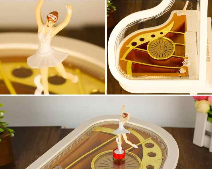 Креативная музыкальная шкатулка для фортепиано, хит продаж, новинка, подарок на день рождения для подруги, детей, балерины, танцевальные аксессуары для дома