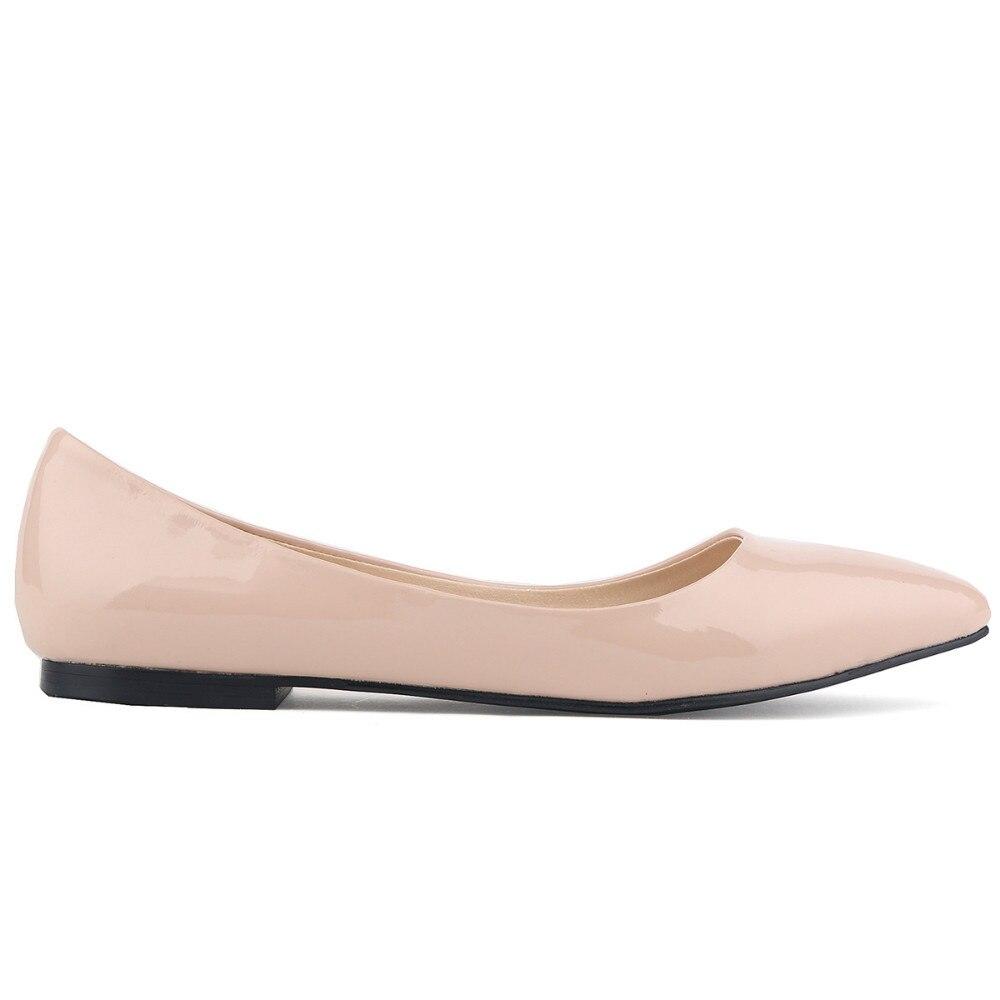 2015 Elegant Spring Autumn font b Women b font Fashion Comfortable Shoes Slip On Casual Patent