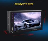9 Languages Touch Screen Car MP5 Player Hand Free 2 DIN Radio Support Rear View Camera Bluetooth Mirror Link For Android Phone