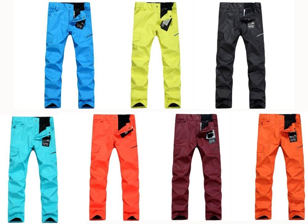 ФОТО Purple / Blue / Orange / Brown / Black Women skiing pants snowboard Trousers waterproof&windproof thermal winter cotton pants