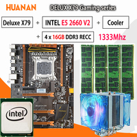 HUANAN Golden Deluxe X79 Gaming Motherboard LGA 2011 ATX CPU E5 2660 V2 SR1AB 4 X