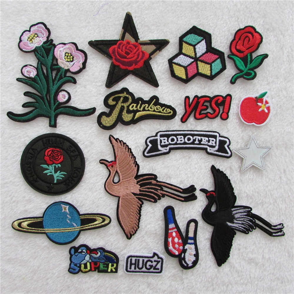 hot sale fashion Embroidery hot melt adhesive applique embroidery patch DIY clothing accessory patches 1pcs sell C5836-C5853