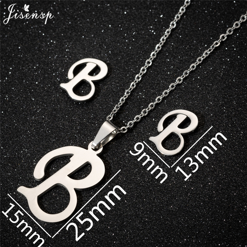 Jisensp Personalized A-Z Letter Alphabet Pendant Necklace Gold Chain Initial Necklaces Charms for Women Jewelry Dropshipping 4