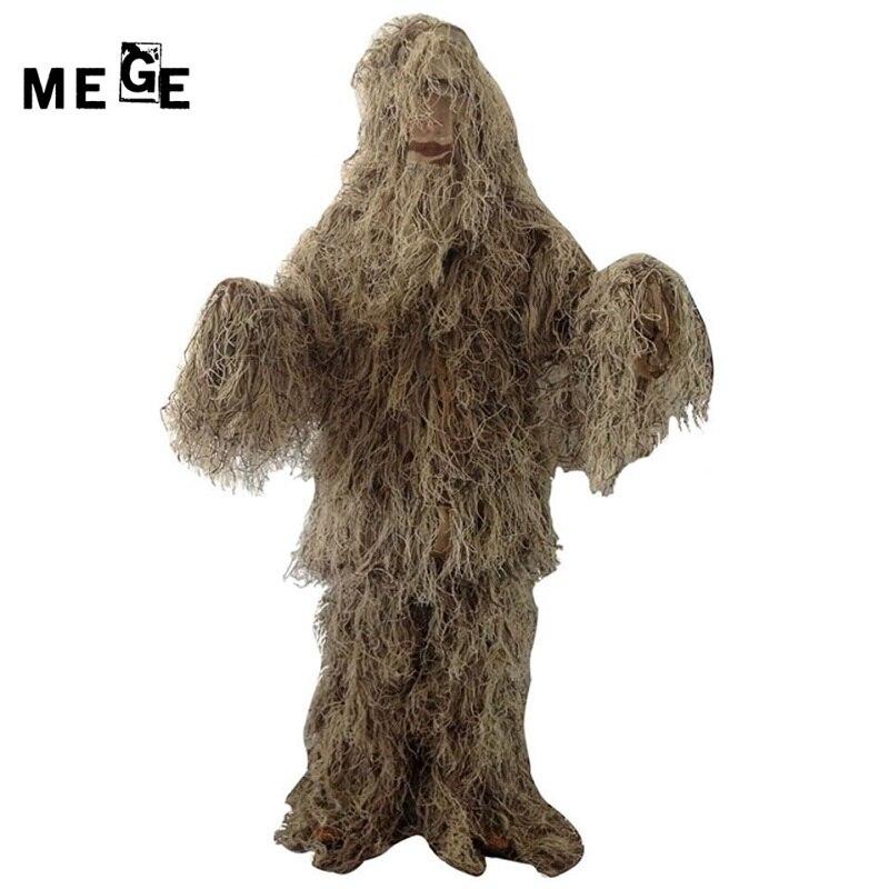 Mege extérieur Jungle désert neige Camouflage chasse vêtements Ghillie costume pêche chasseur photographie costume militaire Airsoft costume