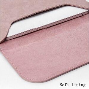 Image 3 - 2019 yeni mat PU deri kol Laptop çantası 15.6 14 macbook Air 13 için kılıf Pro Retina 11 12 15 xiaomi Mi dizüstü 12.5 13.3