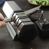 XYj 4 Stage Electric Knife Sharpener Professional Kitchen Knife Sharpening Tool Diamond Grind Sharper For Steel&Ceramic Knives