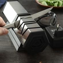 XYj 4 المرحلة مشحذ سكين كهربائي المهنية المطبخ سكين شحذ أداة الماس طحن الغشاش ل الصلب و السيراميك السكاكين