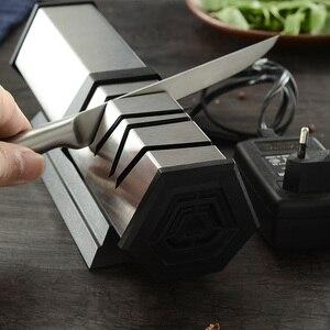 Image 1 - Xyj 4 Stage Elektrische Messenslijper Professionele Keuken Mes Slijpen Tool Diamond Malen Scherper Voor Staal En Keramische Messen
