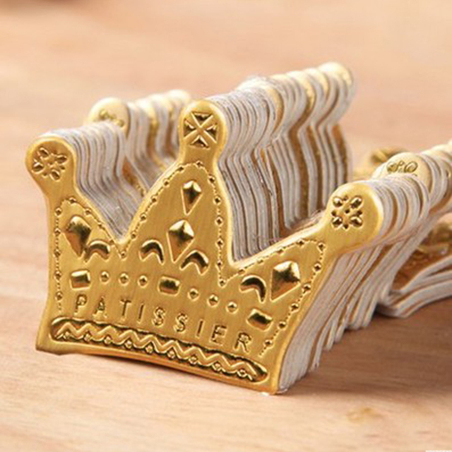crown cake topper 50pcs bag paperboard cake tooper gold princess crown 3196