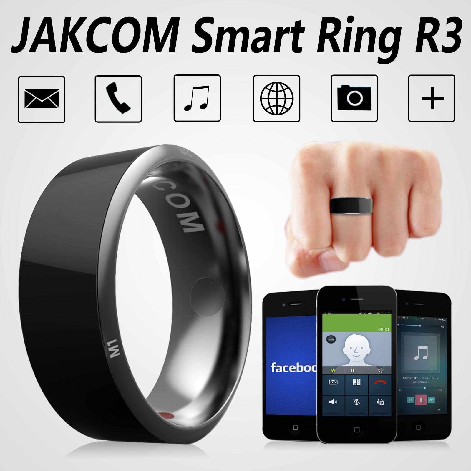 Jakcom R3 Smart Ring electronic CNC Metal Mini Magic RFID NFC 125khz 13.56mhz IC/ID Rewritable Access Control Key Card Tag Copy-in Access Control Cards from Security & Protection