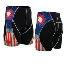 2015 new arrival flag shorts for cycling riding short sport homme plaid men's clothing  crossfit shorts short homme
