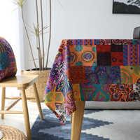 Baumwolle Leinen Tischdecke Böhmen Tischdecken Abdeckung Amerikanischen Stil Rechteckigen Tischdecke Staubdicht Toalha De Mesa Manteles