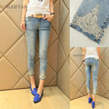 high quality 2014 new seven  jeans  female diamond studded pants all-match nine skinny jeans woman