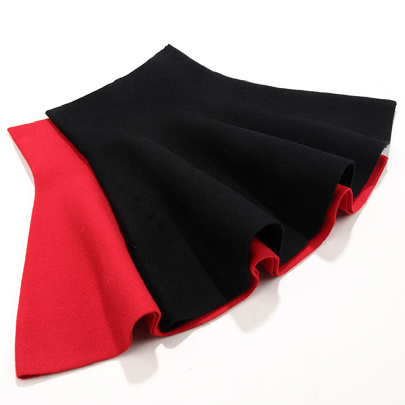 DZIECKO Children Girl Skirts Black Red 2017 Baby Pettiskirt Autumn New Baby Children High Waist Pleated Skirt Knitted Pettiskirt alex evenings pleated side skirt black lp