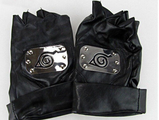 Naruto Hatake Kakashi Cosplay Face Mask Headband Gloves