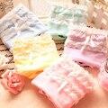 Hot Lace Ladies Double Underwear Panties Sexy Fashion Women Boeknot Cotton 2016 Thongs 1Pcs New