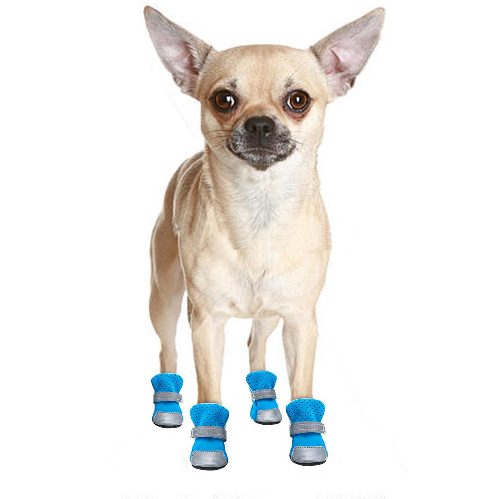 waterproof dog boots blue