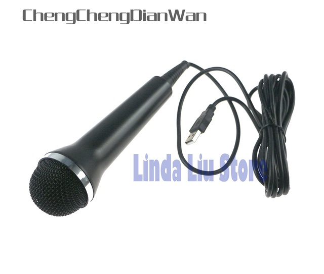 ChengChengDianWan Microphone Wired USB Mic For Xbox360 Wii U Game Console For PS2 PS3 PC Console