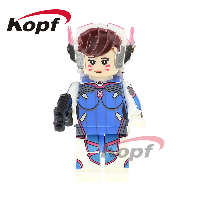 Single Sale Super Heroes D.VA Soldiers 76 Mei Junkrat Jamison Fawkes Bricks Action Building Blocks Children Toys Gift PG1160 building blocks super heroes back to the future doc brown and marty mcfly with skateboard wolverine toys for children gift kf197
