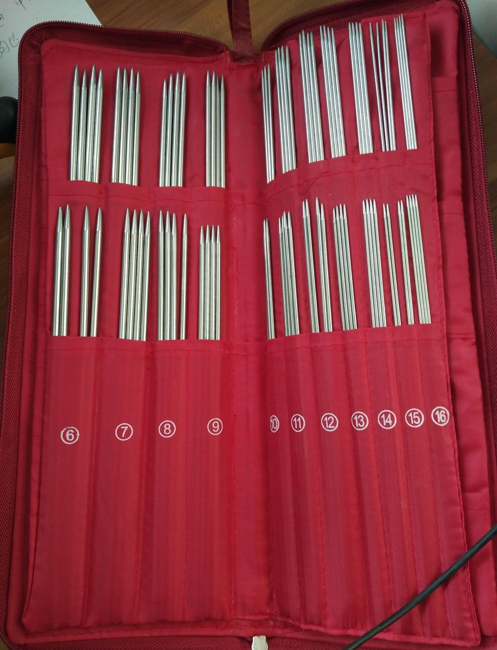 Вязание иглы профессиональный DIY 121 шт. ручной спиц комплект Вязание ткацкие инструменты набор Нержавеющаясталь Вязание нужно 611