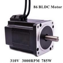 86 Brushless DC Motor 310V 785W 3000rpm Square Flange 86 mm