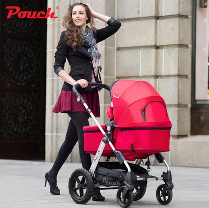 KID1ST luxo alta paisagem carrinho de choque carrinho de bebê carrinhos de criança pode sentar reclináveis two-way entrega gratuita