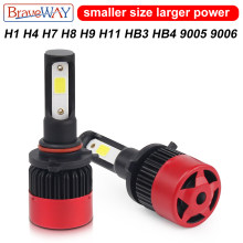 BraveWay LED Bulb H4 HB4 9006 Led Headlight Bulbs for Motorcycle Cars Led Auto Fog Lamp H8 H11 9005 HB3 H7 Car Lights(China)