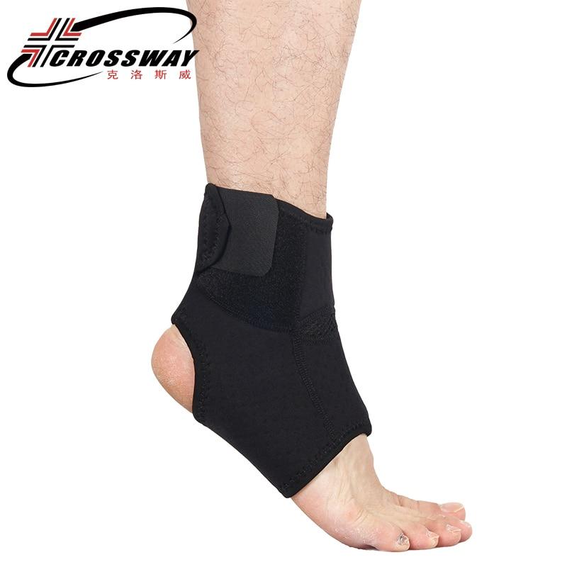 CROSSWAY 1PC hiking Ankle Support Brace bandage protetor de calcanhar fitness sport basketball ribborn soccer heel protector0111